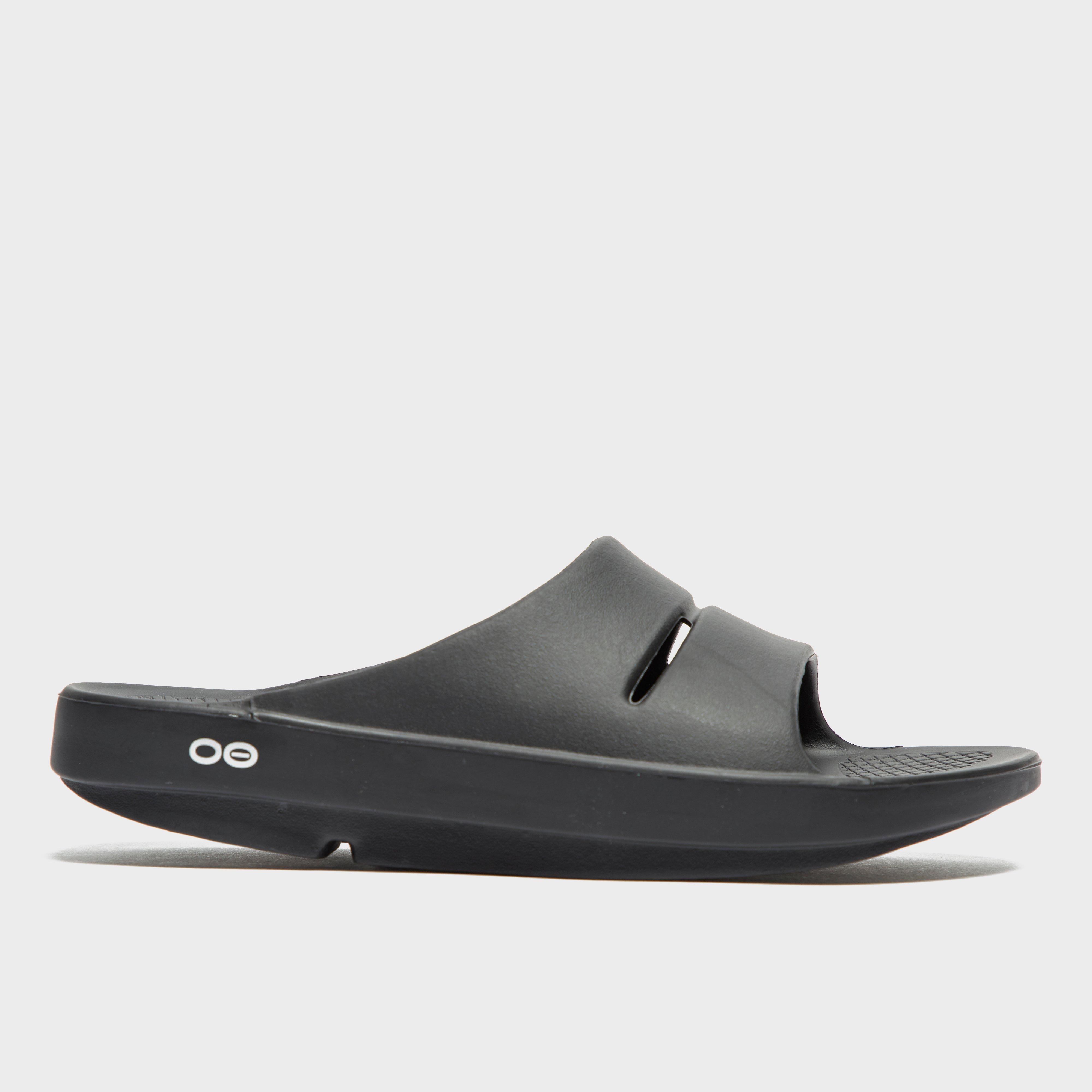 Oofos Oofos Womens OOahh Slides - Black, Black