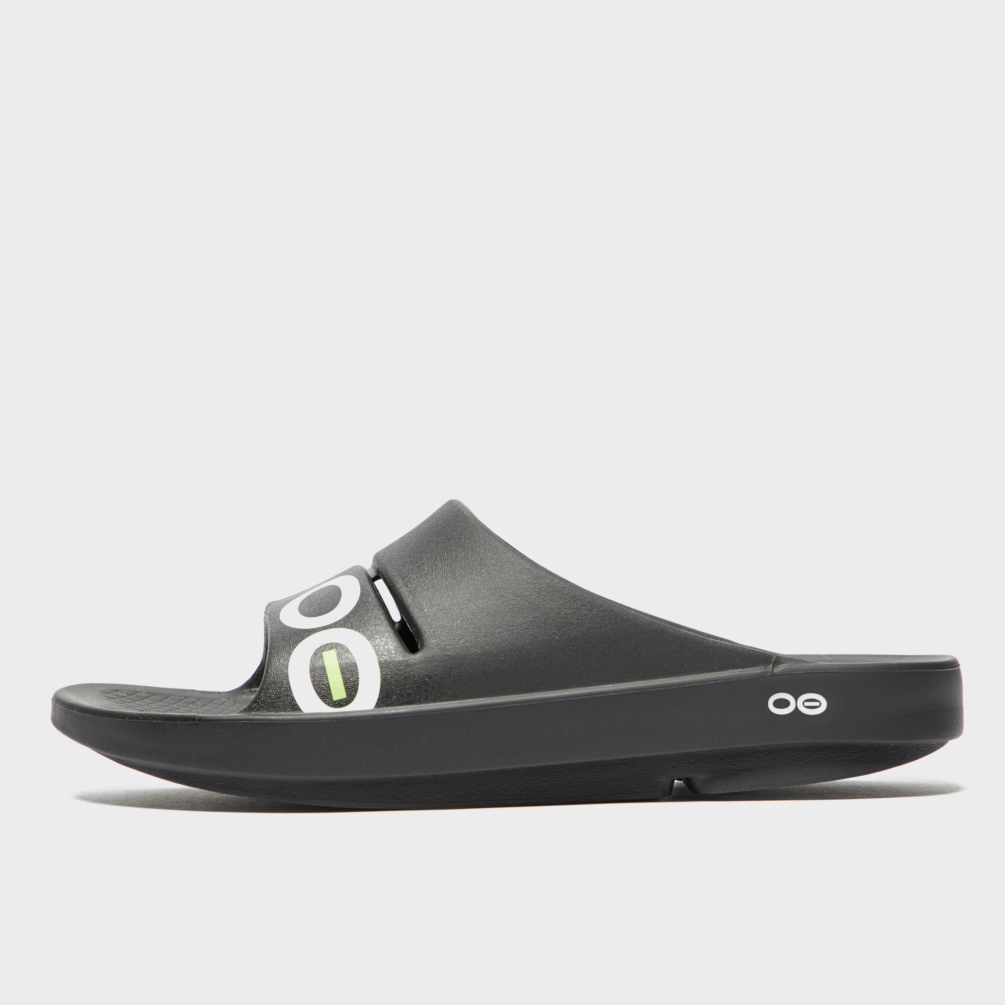 Oofos Oofos Mens OOahh Sport Slides - Black, Black