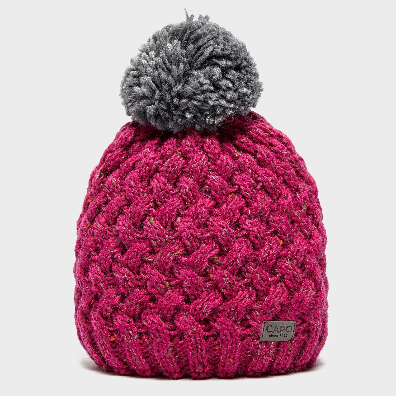 Capo Capo Womens Poppy Bobble Hat - Pink, Pink