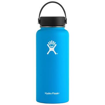 blue Hydro Flask 32oz Wide Mouth Water Bottle