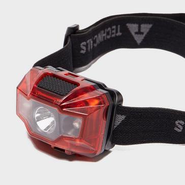 Red Technicals 3W + 2 LED Rechargeable Head Torch
