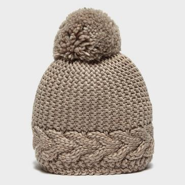Beige Capo Women's Flora Bobble Hat