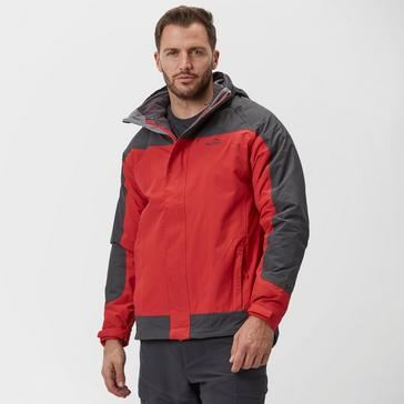 Dark Red Peter Storm Men's Lakeside II 3 in 1 Jacket