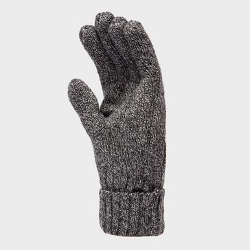 Grey|Grey Peter Storm Women's Cable Knitted Gloves