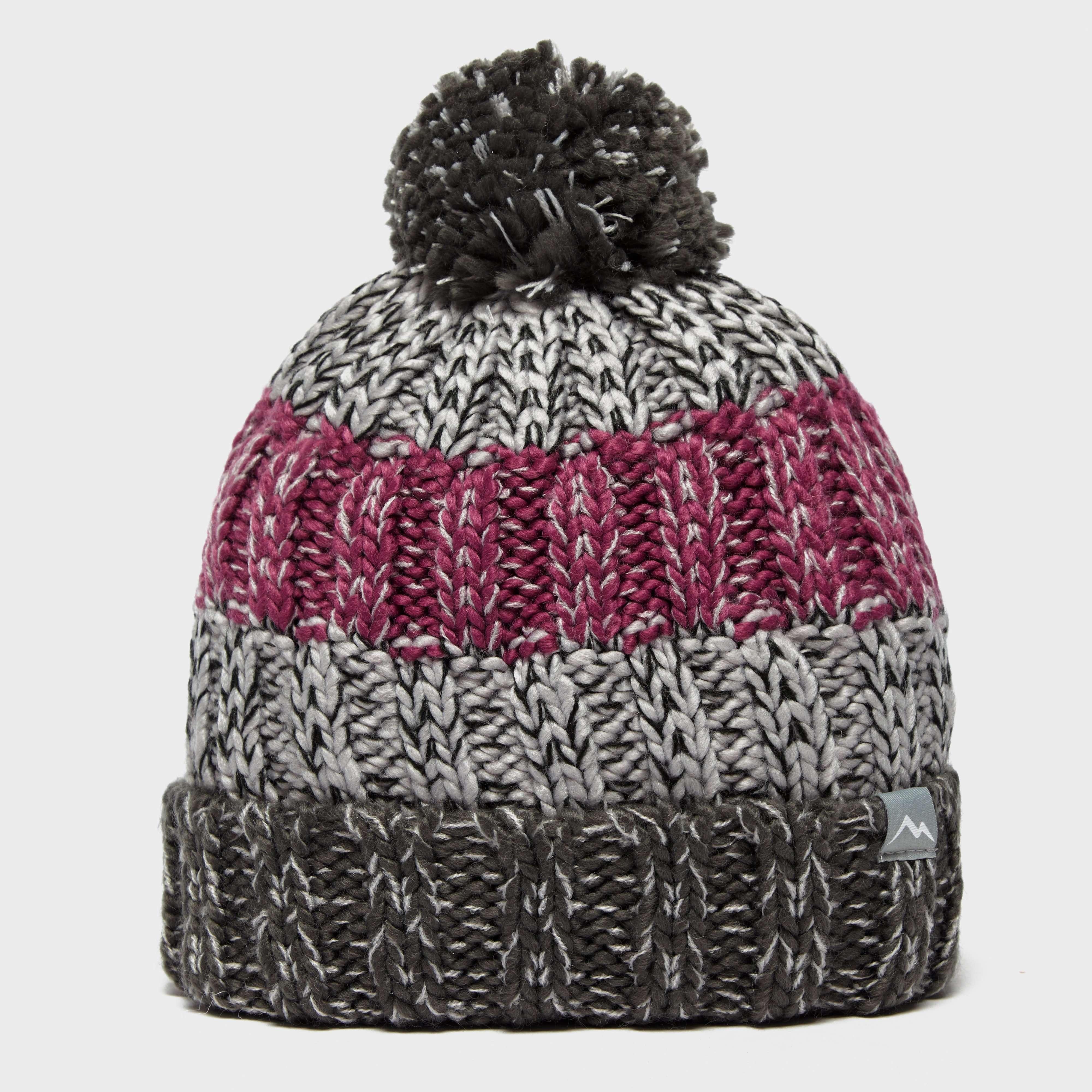 PETER STORM Girls' Striped Bobble Hat