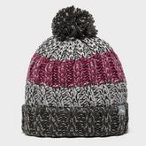 Girls' Striped Bobble Hat