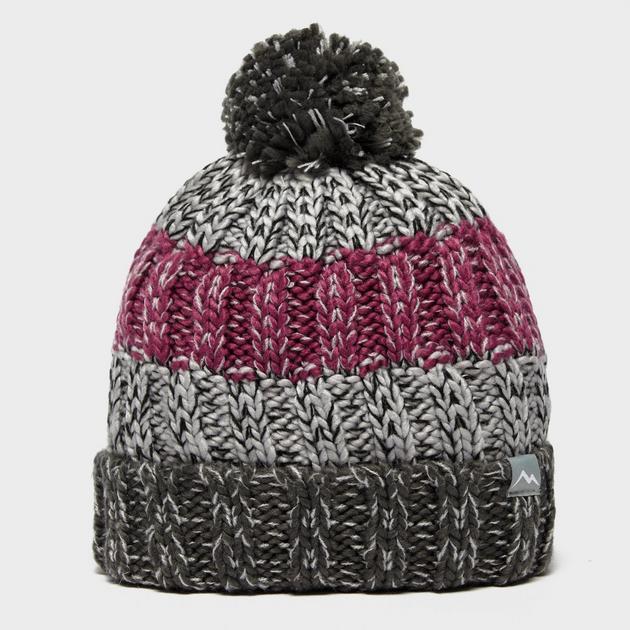 Girl's Stripe Bobble Hat