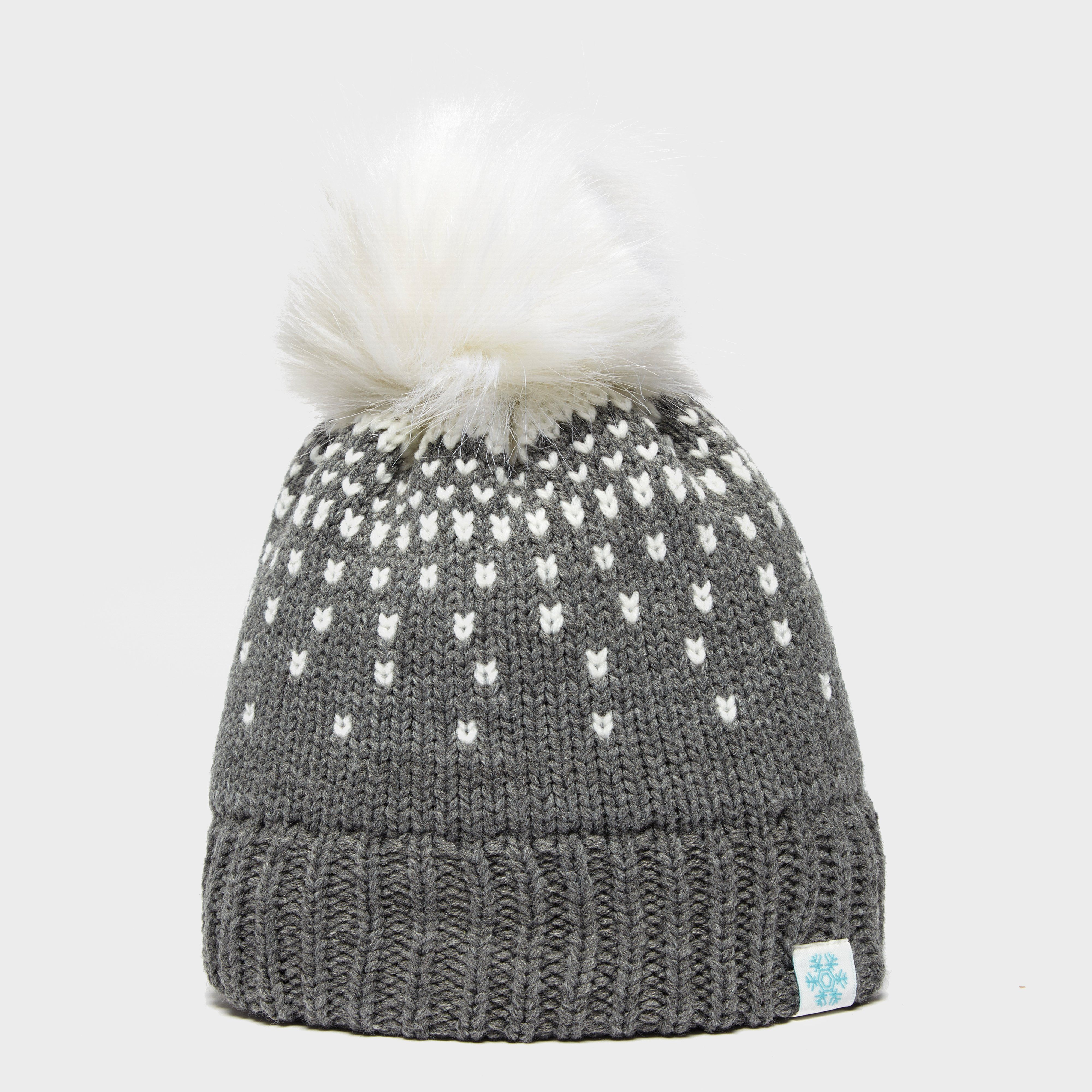 ALPINE Women's Snowflake Bobble Hat