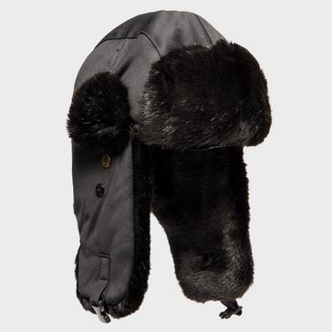 Black Alpine Women's Fur Trapper Hat