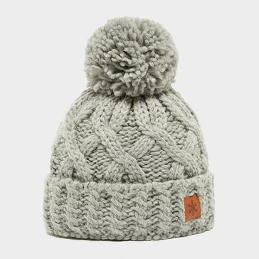 Grey|Grey Alpine Women's Chunky Bobble Hat