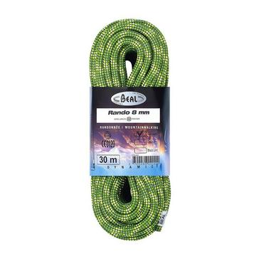 GREEN Beal Rando 8mm Walkers Rope (30m)