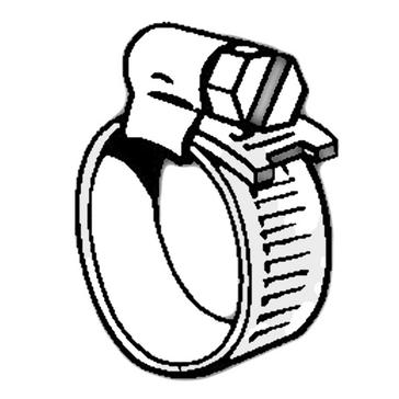 Silver Continental OO Hose Clip