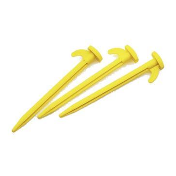 "YELLOW HI-GEAR Plastic Power Pegs 8"" (10 Pack)"