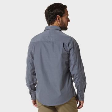 Blue Craghoppers Men's Kiwi Long Sleeved Shirt