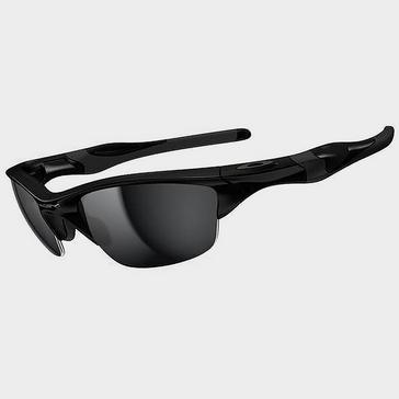 Black Oakley Half Jacket 2.0 Polished Black Sunglasses