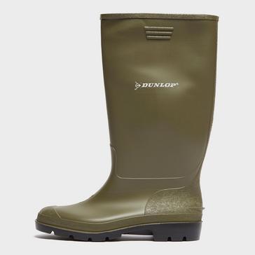 GREEN Dunlop Pricemastor Wellington Boots