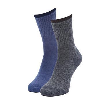 Multi HI-GEAR Men's Walking Socks (2 Pair Pack)