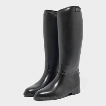 black Shires Ladies' Long Rubber Riding Boots (Wide)