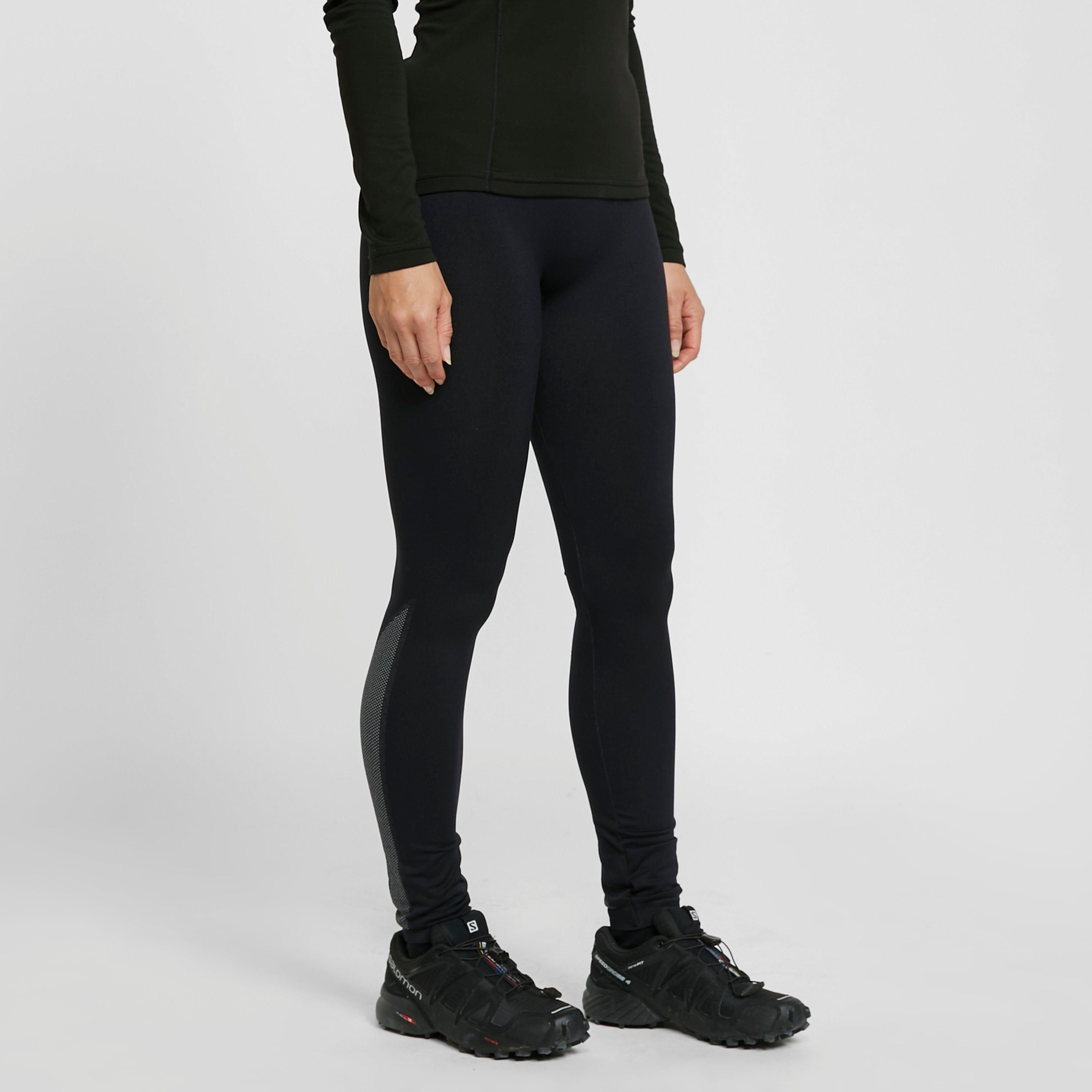 Image of The Edge Women's Flow Form Baselayer Tights - Black/Wome, Black/WOME