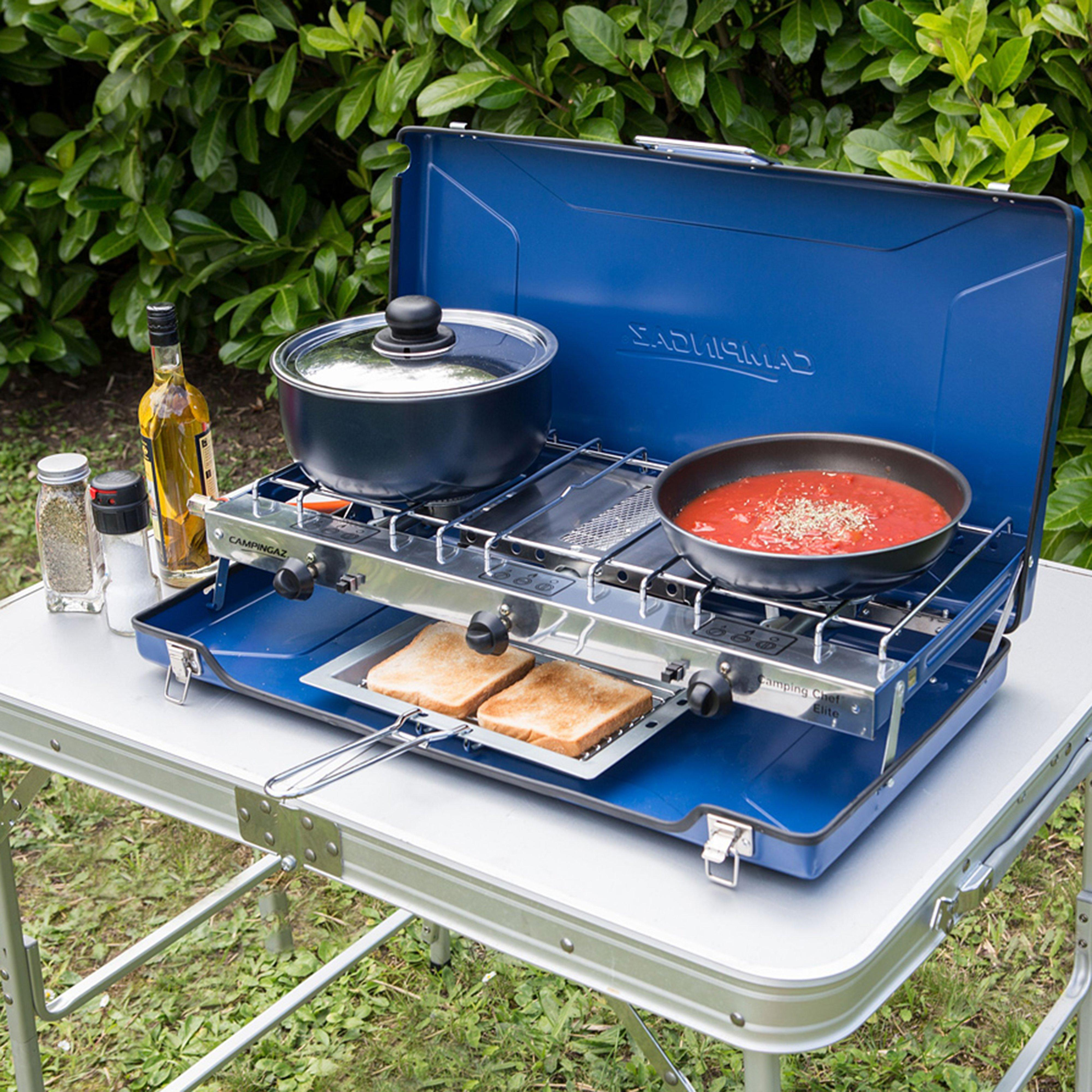 Campingaz Campingaz Elite Camping Chef Double Burner and Grill