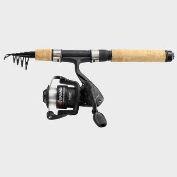 Black NGT Onamazu Mini Travel Telescopic Rod & Reel Combo