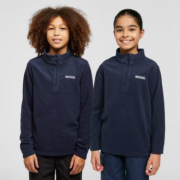 Navy Regatta Kids' Hot Shot II Half-Zip Fleece
