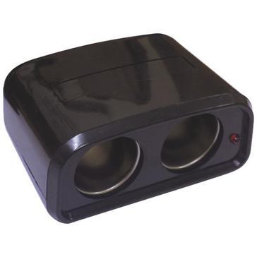 Black STREETWIZE 12v Twin Power Socket