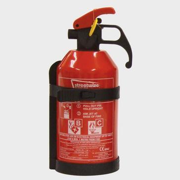 RED STREETWIZE 1kg Dry Powder BC Fire Extinguisher