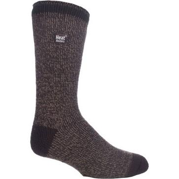 Brown Heat Holders Men's Twist Socks