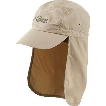 Beige North Ridge Explorer Roll Side Hat