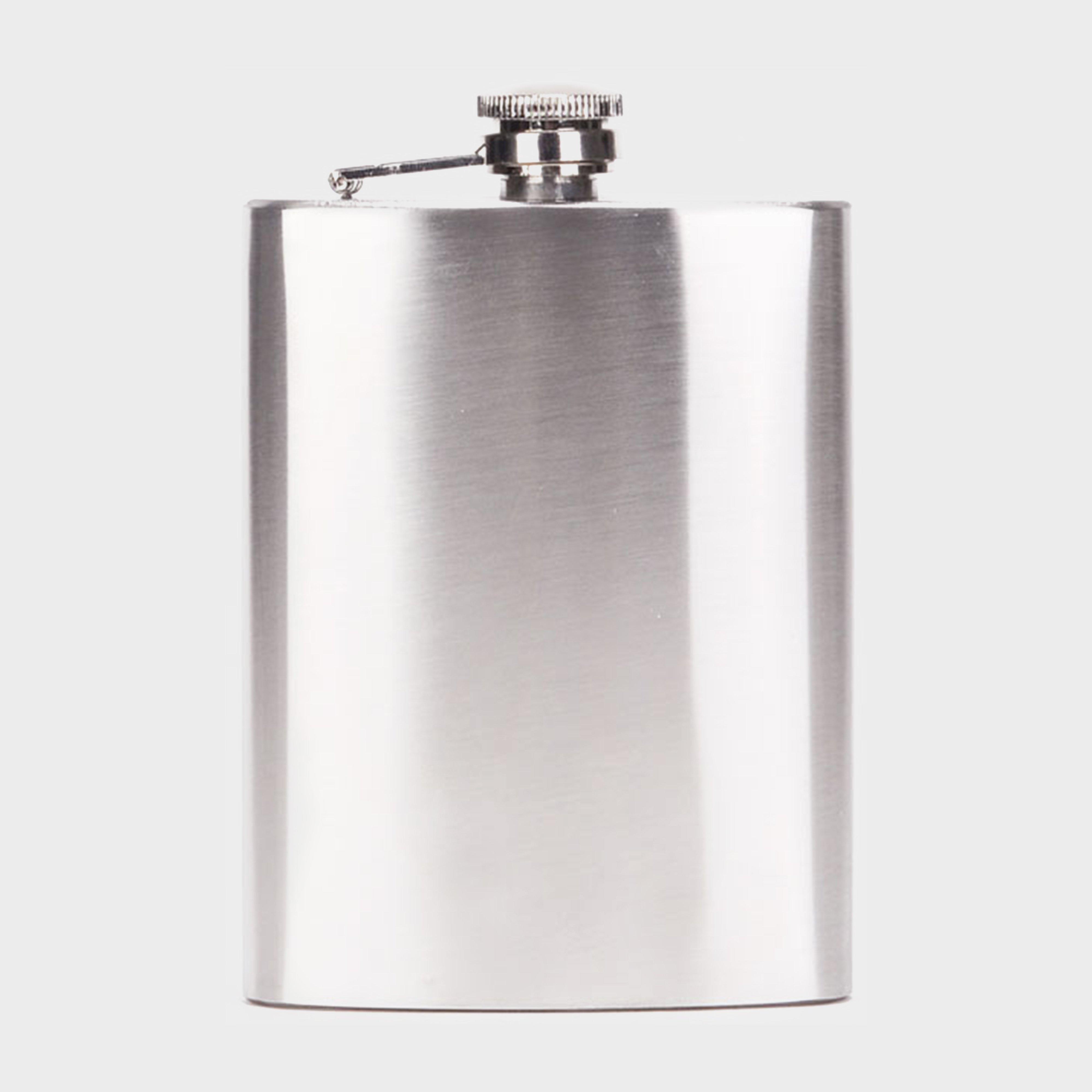 Handy Heroes Handy Heroes 8oz Hip Flask - Silver, Silver