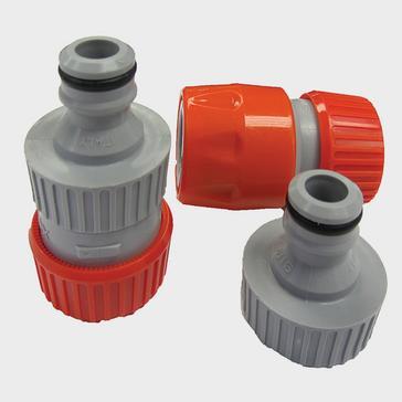 Red Hitchman Aquaroll Mains Adaptor Extension Hose Connectors