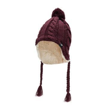 PURPLE North Ridge Womens Fur Lined Inca Hat