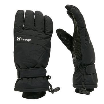 Black The Edge Men's Aspen Ski Gloves