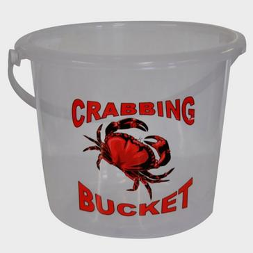 White BlueZone 5 Litre Clear Crab Bucket