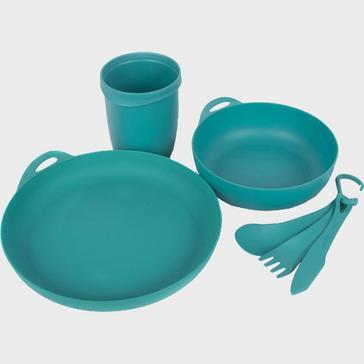 Blue Sea To Summit Delta Camp Set (Bowl, Plate, Mug, Cutlery)