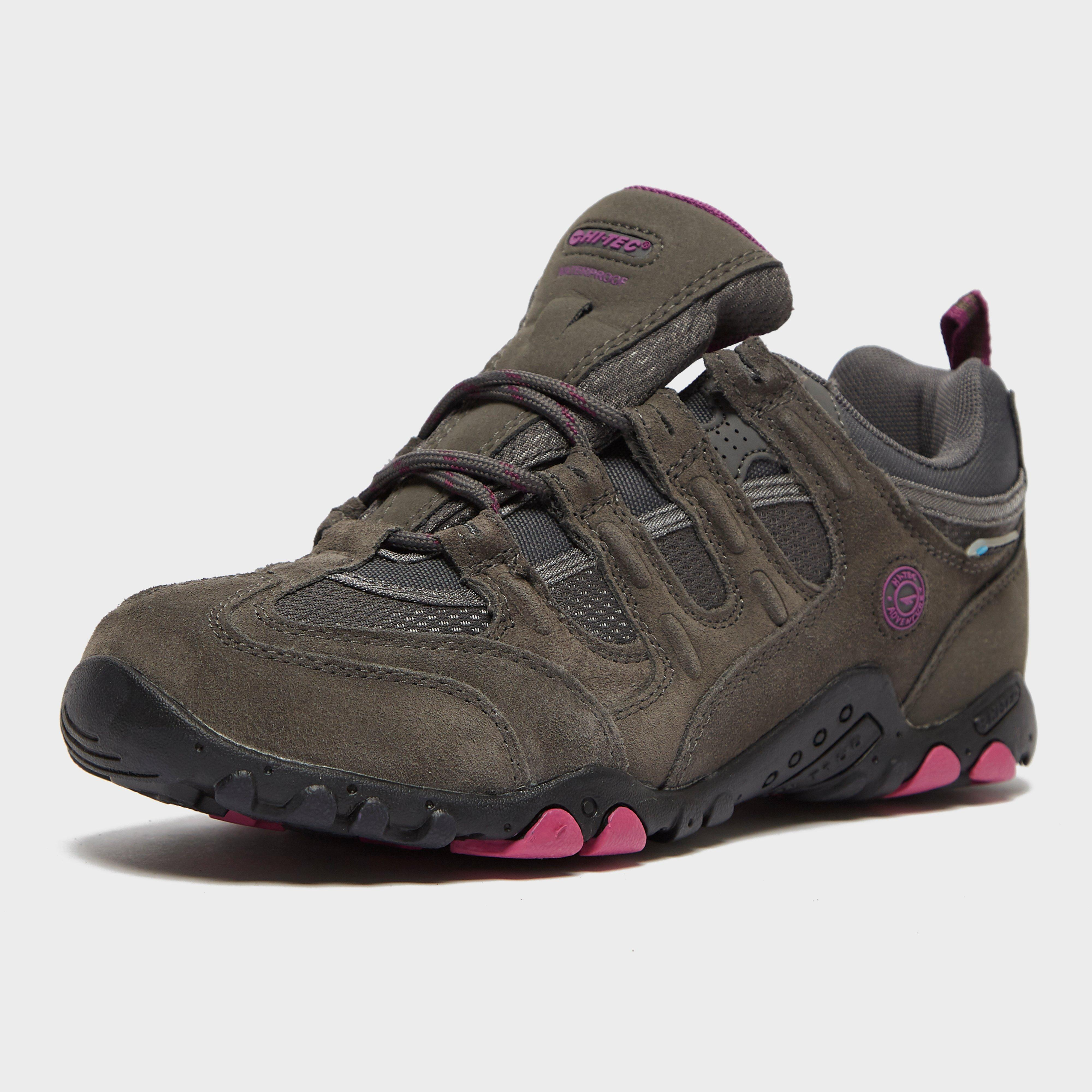Hi-Tec Womens Quadra Classic Walking Shoes Brown Sports Breathable Trainers