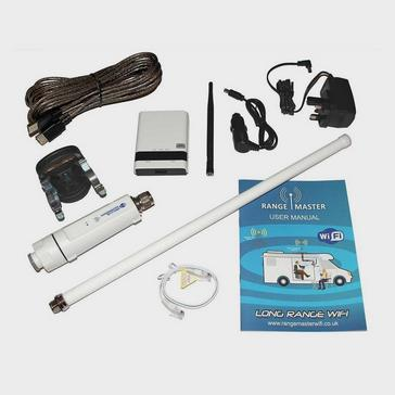 white Falcon WiFi Booster Long Range & WiFi Antenna and Router