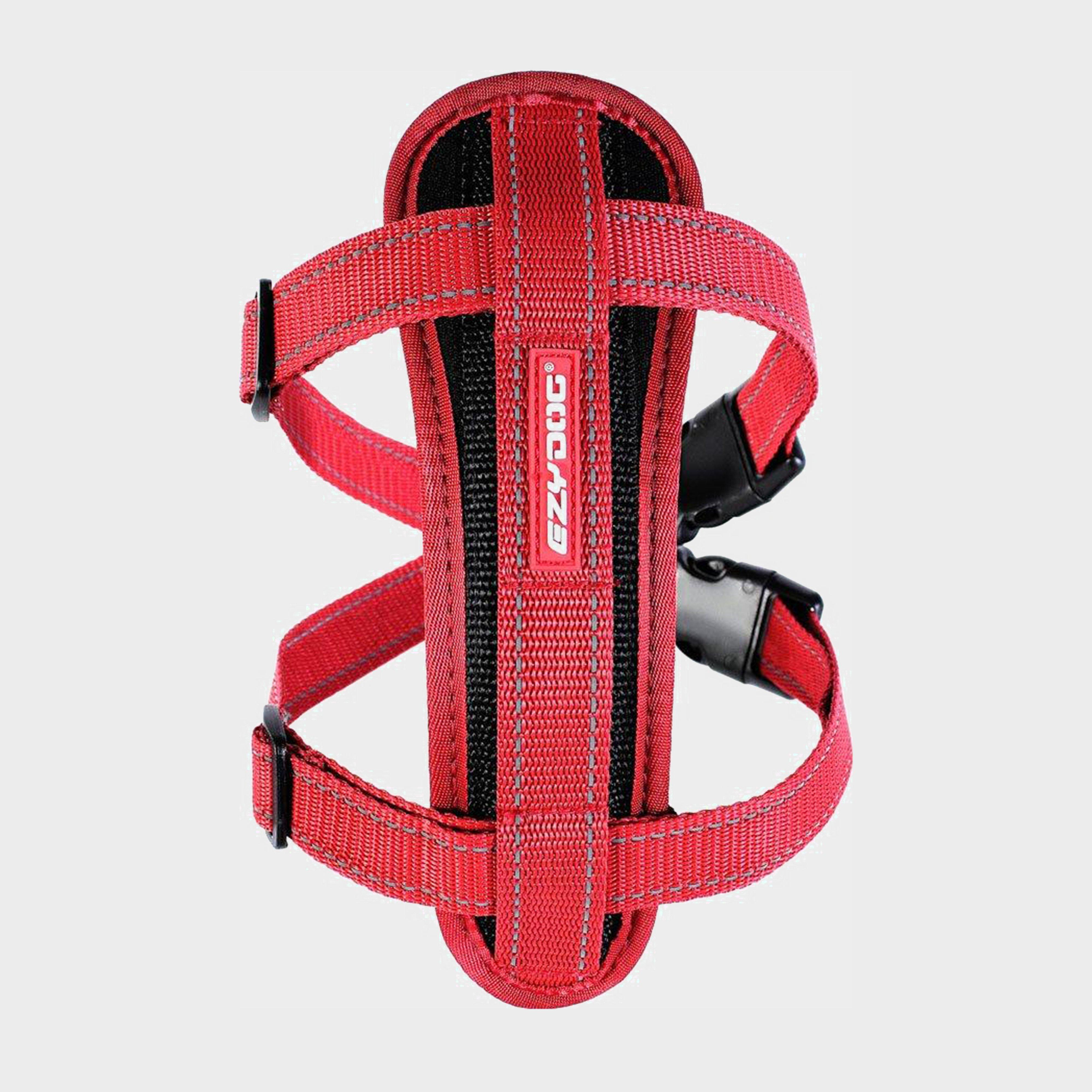 Image of Ezy-Dog Chest Plate Harness (Large) - Red/Harnes, Red/HARNES