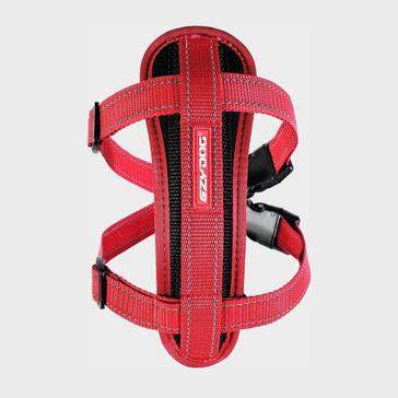 RED Ezy-Dog Chest Plate Dog Harness (L)