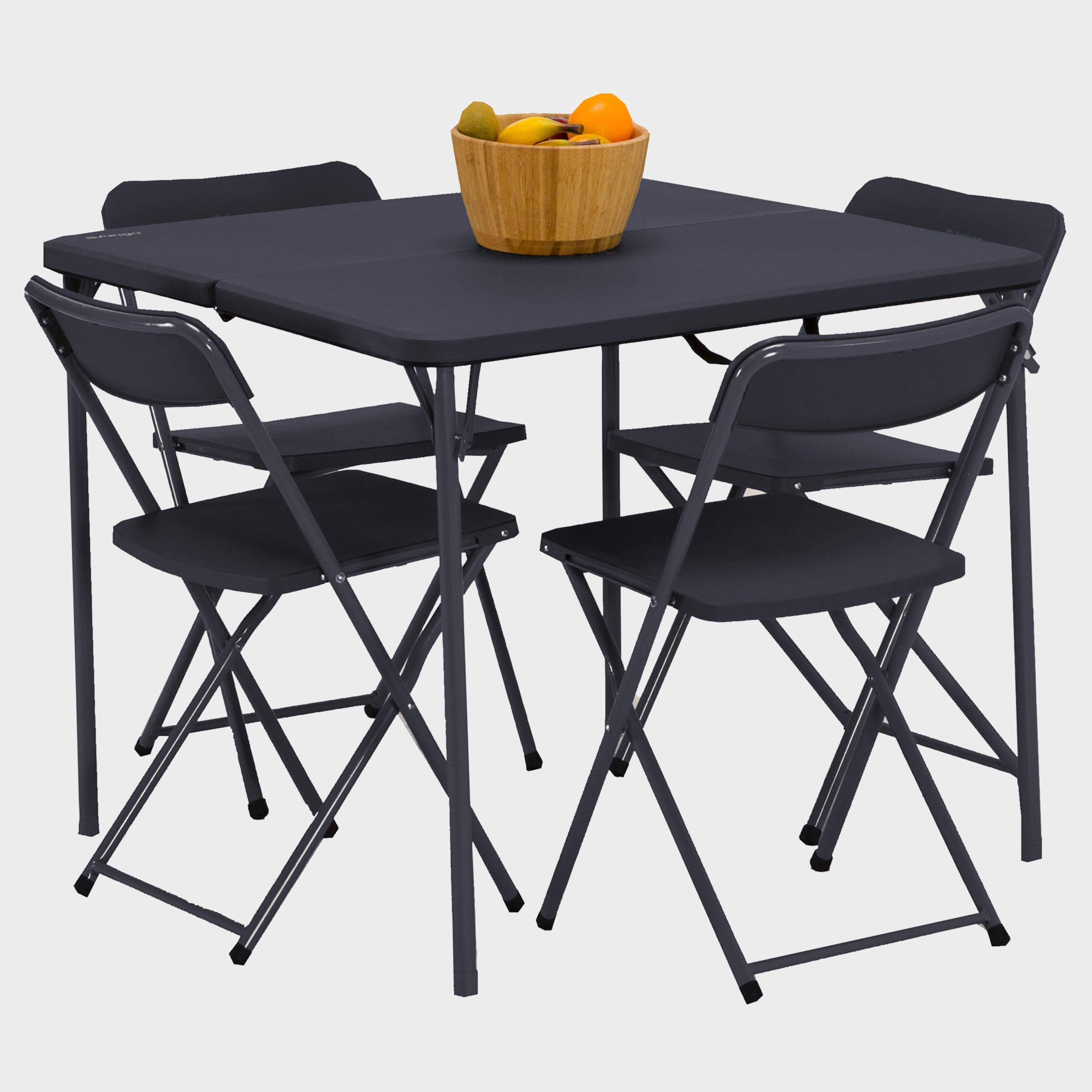 Vango Vango Dornoch Table and Chairs Set - Black, Black