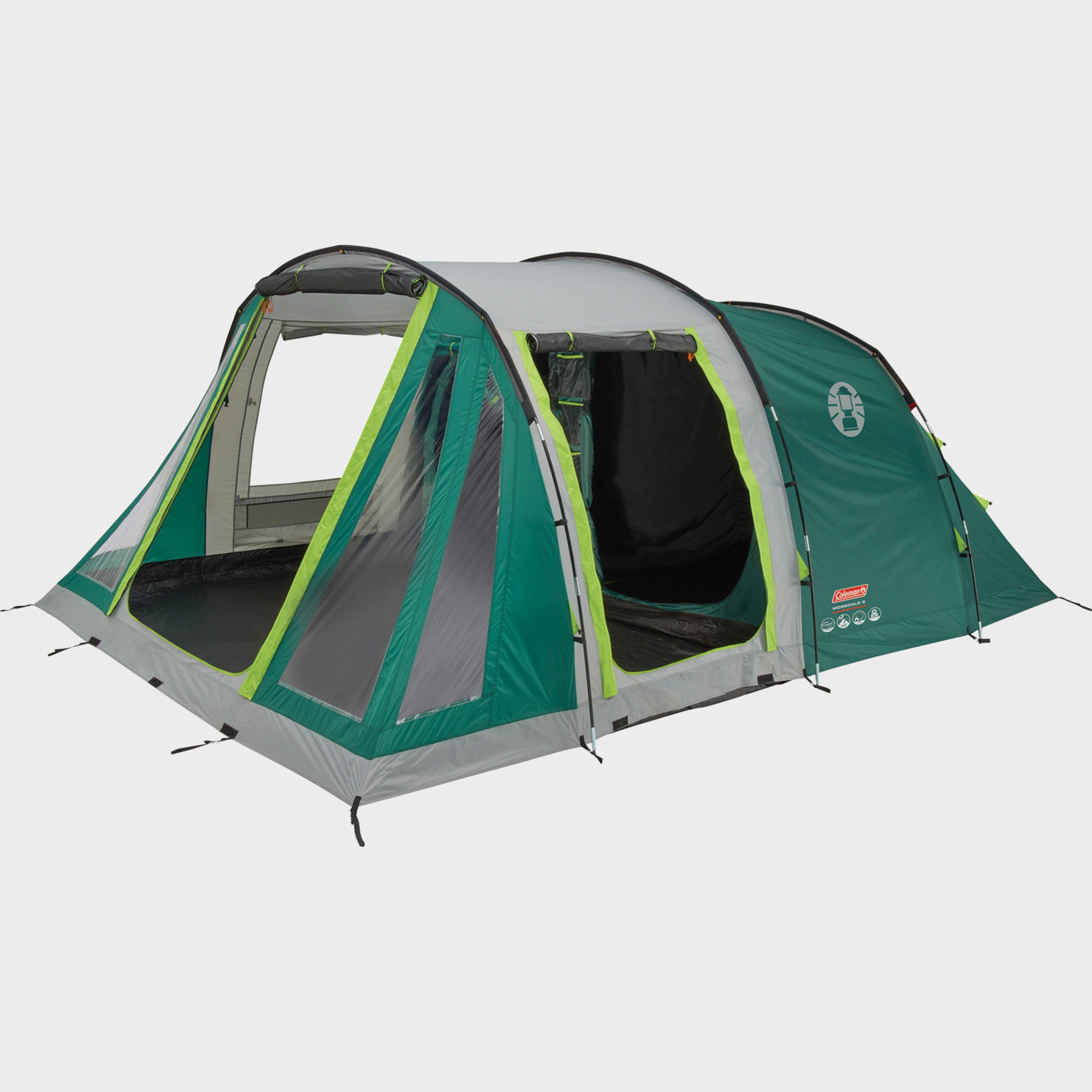 Coleman Mosedale 5 Family 5 Person Tent - Green/5, Green