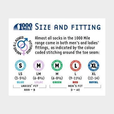 Pink 1000 MILE Ultimate Tactel® Men's Trainer Liner Sock