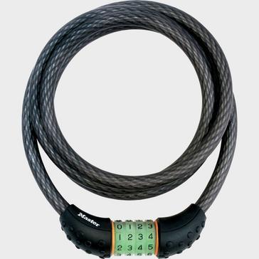 Black Masterlock 12mm x 1800mm Combi Lock Cable
