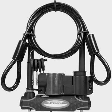 Black Masterlock Gold 13mm D-Lock 1200mm Cable