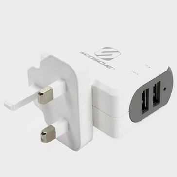 White Scosche StrikeBase Dual USB Wall Charger