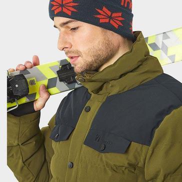 Khaki The Edge Men's Banff Insulated Snow Jacket