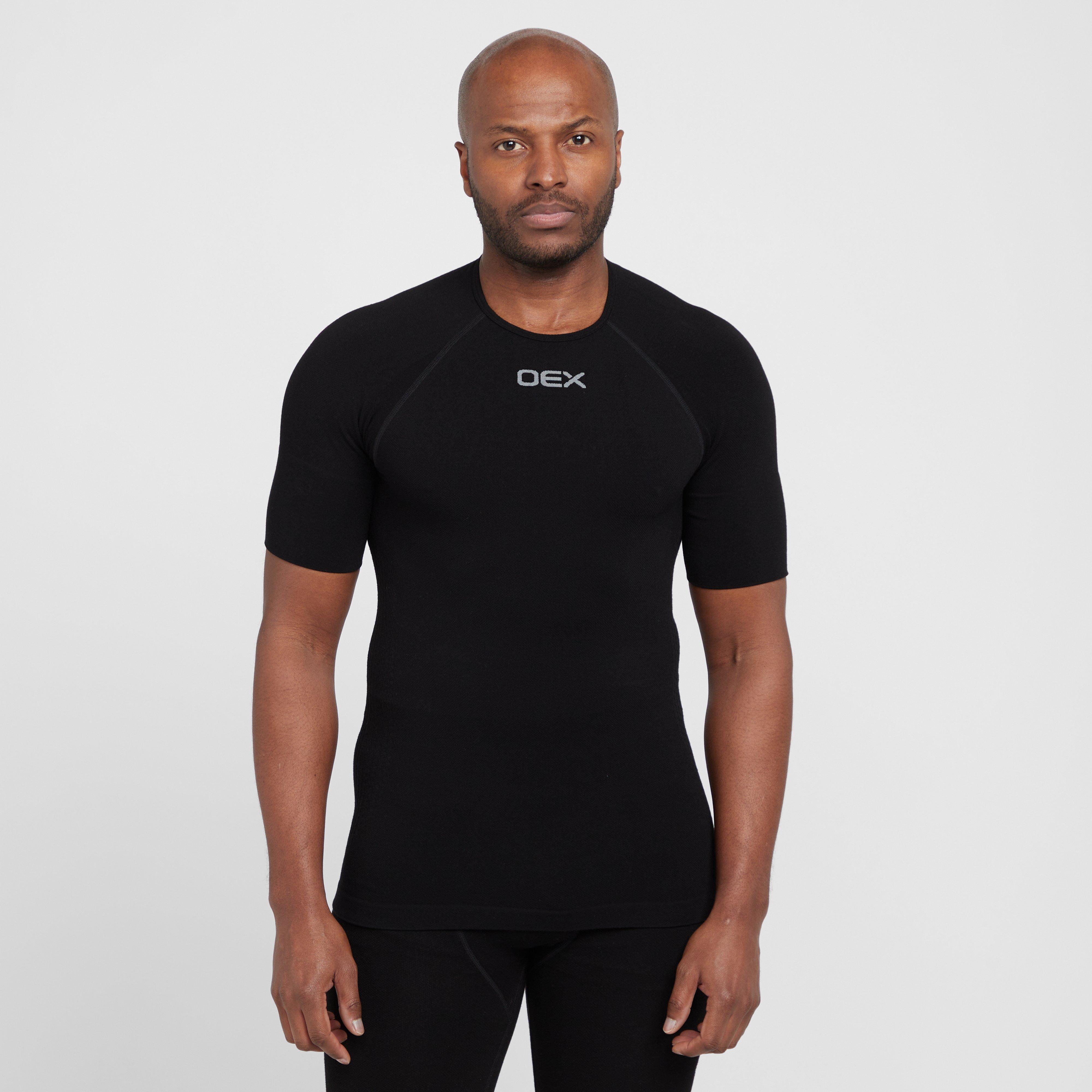 Oex Oex Mens Barneo Short Sleeve Baselayer Top, Black