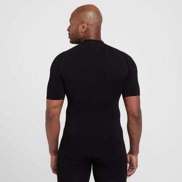 Black OEX Men's Barneo Short Sleeve Baselayer Top