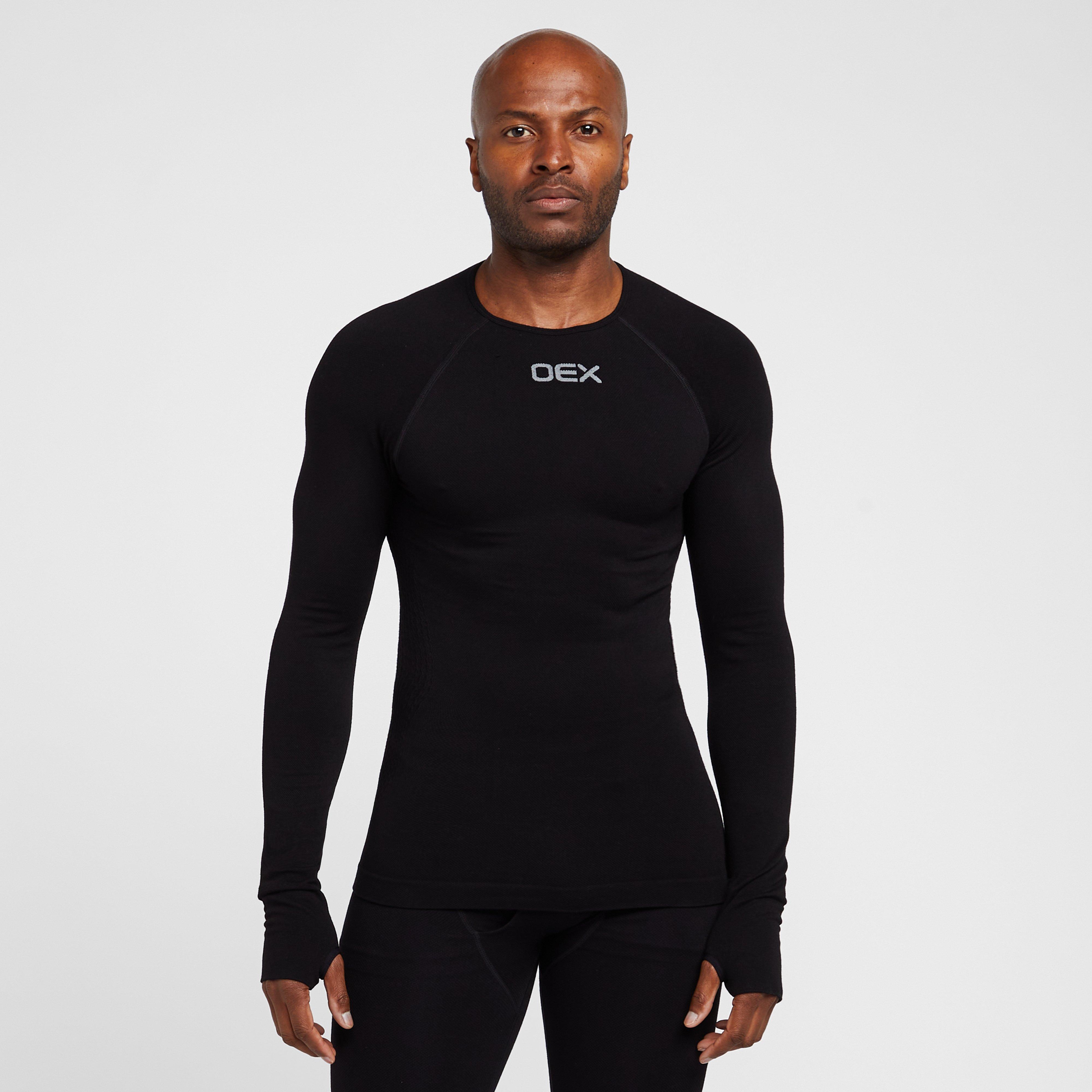 Oex Oex Mens Barneo Long Sleeve Baselayer Top, Black